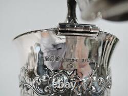 Gorham Claret Jug D1566/14A American Brilliant Cut Glass ABC Sterling Silver