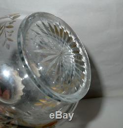 Gorham Sterling & Cut Glass Double Gourd Decanter/Carafe/Ewer