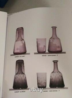 HERMES Crystal Carafe Hand Cut NEW $1300 Grim Design Le Reve SAINT LOUIS FRANCE