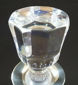 Hallmarked silver & cut glass vintage Art Deco antique claret jug decanter