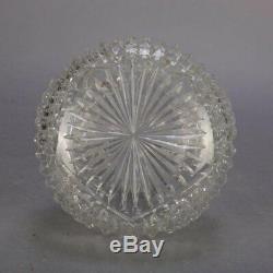Hawkes School Cut Crystal Brilliant Glass Wine Decanter, 20th Century