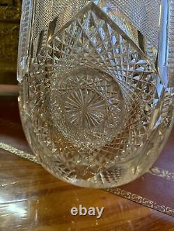 Huge AMERICAN BRILLIANT CUT GLASS Vase, J. Hoare Acme Pattern ABP, CIRCA 1905