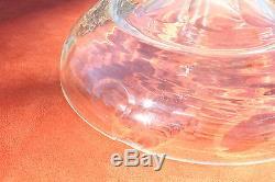 Huge Antique Cut Glass Crystal Beverage Drink Dispenser 30H Stunner