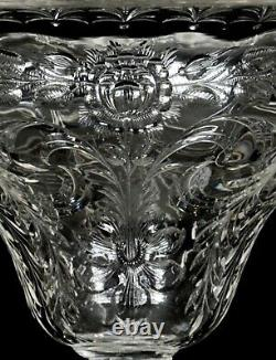 Huge Rare Antique Hawkes 13 Rock Crystal Oversized Abp Cut Glass Center Bowl