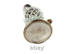 Italian Glass Decanter, Art Deco Cut Pressed Wine Jug, Distillerie Buton Bologna