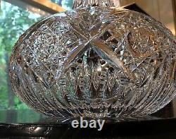 J. Hoare American Brilliant Period Cut Glass Hindoo 7 1/4 Carafe c. 1870-90