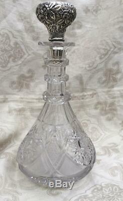 Jacobi & Jenkins Decanter Sterling & Brilliant Cut Glass