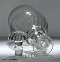 Late Georgian, English, three-ring Prussian-shaped decanter