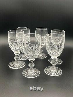 Lismore by Waterford RolyPoly Decanter With 6 Cut Glass Cordials & Tray