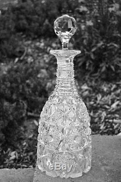 Lovely American Brilliant Period ABP Cut Glass 13 Decanter Libbey Stratford
