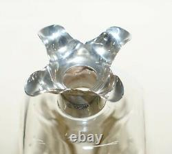 Lovely Antique Sterling Silver Collar 1922 Pinch Decanter Jug For Whisky Port