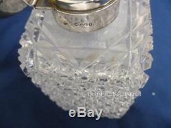MAPPIN & WEBB (JNM) Cut Glass & SILVER Scent Decanter 1885