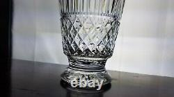 MINT WATERFORD Crystal 13 MAEVE Tramore Footed DECANTER with Cut Stopper Glass