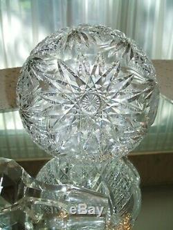 Magnificent American Brilliant Period Cut Glass claret Wine Decanter
