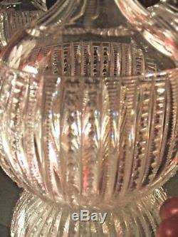 Magnificent Antique ABP American Brilliant Cut Glass Oval Decanter