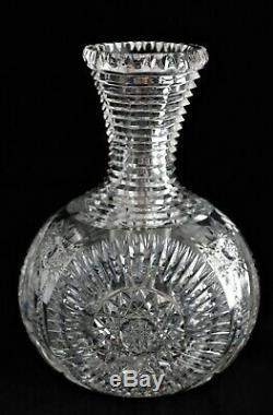 Magnificent Antique American Brilliant Cut Glass Crystal Abp Carafe Decanter