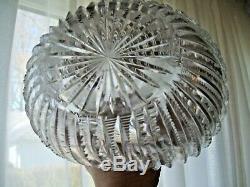 Magnificent Antique Prisim Cut ABP American Brilliant Cut Glass Oval Decanter