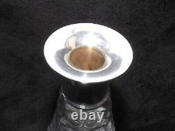 Mappin & Webb Solid Silver Sterling Collar & Cut Glass Decantor 12 London 1928