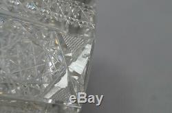 Meriden Alhambra ABP American Brilliant Cut Crystal Whiskey Bottle / Decanter