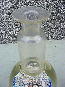 Millefiori Glass Decanter Stunning Piece