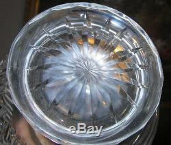 Monumental American Brillant Cut Glass Water Lemonaid Wine Pitcher Decanter