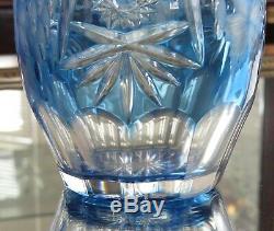 Nachtmann Traube, Aqua Cut to Clear Crystal Decanter WithLabel, 15 1/2 NIB
