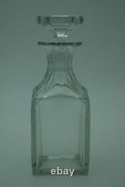 Old Baccarat Whiskey Decanter Cut Crystal Cave Bottle S. 823 Catalog 1916 France