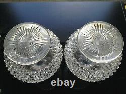 Pair Antique ABP Brilliant Period Cut Glass Decanters Dorflinger Hob Diamond