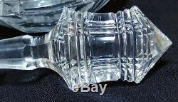 Pair Antique Cut Crystal Brillant Glass Decanters Rare Extraordiary, Dorflinger