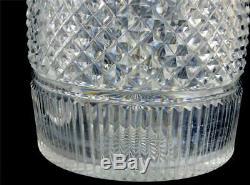 Pair Antique Georgian Regency Cut Glass Anglo Irish Decanters