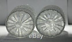 Pair Of Georgian Anglo Irish Cut Glass Cylinder Decanters