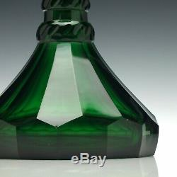 Pair of George V Green Glass Ship Decanters c1920