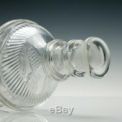Pair of Irish Pulley Ring Glass Decanters c1820