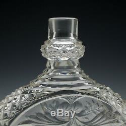 Pair of Large Victorian Intaglio Cut Glass Decanters c1890