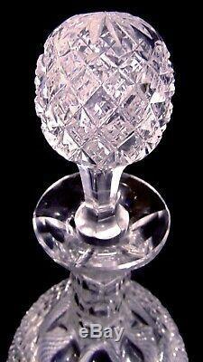 Pr ABP Brilliant Cut Glass Crystal Decanter Bottles Jugs Strawberry Diamond 13