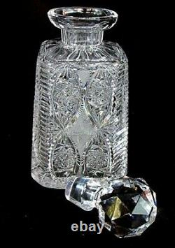 Pr Baccarat Whiskey Decanters Antique Brilliant Cut Matching