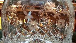 QUALITY Crystal CUT GLASS Decanter & 2 Brandy Glasses GALLIA ROGASKA, YUGOSLAVIA