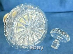 QUEEN ELIZABETH 1977 ER Jubilee Crown Sterling Silver Cut Glass Whiskey Decanter