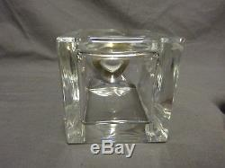 Quality Heavy Glass Spirit Decanter With Sterling Silver Collar Birmingham 200