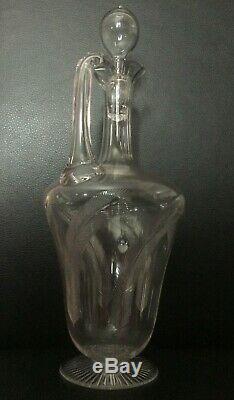 RARE Fine antique Aesthetic glass Claret jug wine decanter Whitefriars Powell