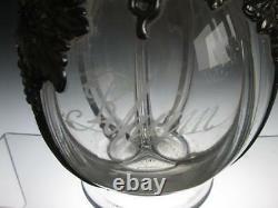 RARE Georgian Glass Four Section Overlaid Decanter c1700`s