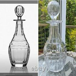 RARE HIGH QUALITY 1L CUMBRIA CRYSTAL HELVELLYN OPTIC Cut Wine Decanter 12 New