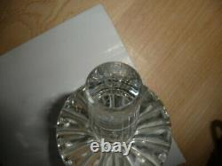 Rare American H. P. Sinclaire & Co. (190428) cut crystal DECANTER & stopper MINT