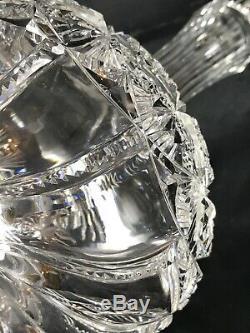 Rare Antique Abp Superior Quality Croesus J. Hoare Cut Glass Decanter Bottle