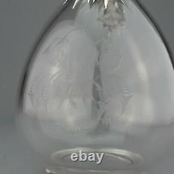 Rare Antique Cut Glass & Solid Sterling Silver Claret Jug Decanter. London 1879