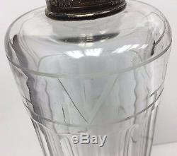 Rare Antique Hawkes 5 Glass Decanter Sterling Stopper 11 1/2