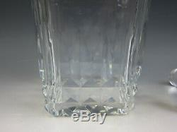 Rare Baccarat Picadilly Square Whiskey Decanter with Stopper French Cut Crystal