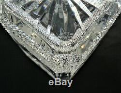 Rare Edinburgh Crystal Thistle Design Magnum Square Spirit Decanter