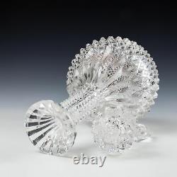Rare Pair Victorian Porcupine Decanters c1865