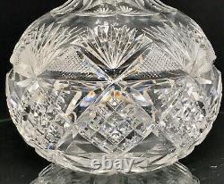 Rare Stunning Abp Antique American Brilliant Cut Crystal Carafe Decanter